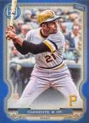 2020 Gypsy Queen Blue Baseball #308 Roberto Clemente SER/150 Pittsburgh Pirates Official MLB Trading Card From The Topps