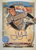 2020 Gypsy Queen Autographs Baseball #GQA-JY Jordan Yamamoto Auto Autograph Miami Marlins Official MLB Trading Card From