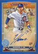 2020 Gypsy Queen Autographs Blue Baseball #GQA-NH Nico Hoerner Auto Autograph SER/99 Chicago Cubs Official MLB Trading C