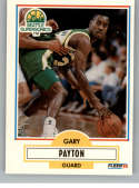 1990-91 Fleer Update Basketball #U-92 Gary Payton RC Rookie Card Seattle SuperSonics Official Update and Traded Card Fro
