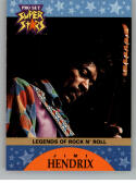1991 Pro Set SuperStars MusiCards Promos NonSport #4 Jimi Hendrix Official Licensed Standard Sized Trading Card of some