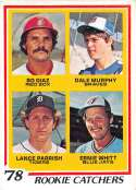 1978 Topps SET BREAK #1 Baseball #708 Bo Diaz/Dale Murphy/Lance Parrish/Ernie Whitt RC Rookie Card Boston Red Sox/Atlant