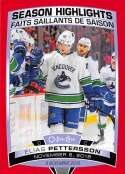 2019-20 O-Pee-Chee Red Border Hockey #594 Elias Pettersson Vancouver Canucks SH Official Canadain Exclusive NHL Trading