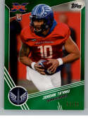 2020 Topps XFL Green Football #116 Jordan Ta'amu RC Rookie Card SER/99 St. Louis BattleHawks Official