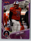 2020 Topps XFL Purple Football #137 Terry Poole SER/50 Houston Roughnecks Official