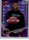 2020 Topps XFL Purple Football #146 Donald Parham RC Rookie Card SER/50 Dallas Renegades Official