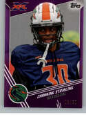2020 Topps XFL Purple Football #151 Channing Stribling SER/50 Seattle Dragons Official