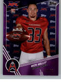 2020 Topps XFL Purple Football #158 Nick Holley RC Rookie Card SER/50 Houston Roughnecks Official