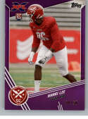 2020 Topps XFL Purple Football #175 Khari Lee RC Rookie Card SER/50 DC Defenders Official