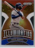 2020 Prizm Illumination Red White and Blue Prizm Baseball #5 Bryce Harper Philadelphia Phillies