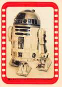 1977 Topps Star Wars Stickers Set Break Four #38 R2-D2 Kenny Baker Official Vintage Trading Card From The Movie A New Ho