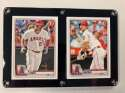 2020 Bowman Two Card Six Screw Plaque Featuring Mike Trout and Shohei Ohtani of the Los Angeles Angels of Anaheim