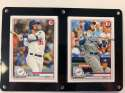 2020 Bowman Two Card Six Screw Plaque Featuring Cody Bellinger and Max Muncy of the Los Angeles Dodgers