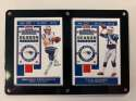 2019 Panini NFL Contenders Two Card Six Screw Plaque Featuring Tom Brady and Julian Edelman of the New England Patriots