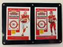 2019 Panini NFL Contenders Two Card Six Screw Plaque Featuring Patrick Mahomes II and Travis Kelce of the Super Bowl Cha