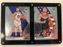 2019-20 Panini Prizm Mosaic Two Card Six Screw Plaque Featuring Stephen Curry in his Golden State Warriors and Team USA