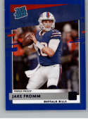 2020 Donruss Press Proof Blue Football #305 Jake Fromm RC Rookie Card Buffalo Bills