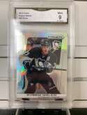 2013-14 Panini Prizm Hockey Evgeni Malkin #85 SILVER Pittsburgh Penguins Rainbow Refractor Holo GMA Graded 9 MINT