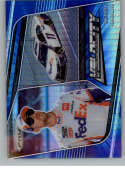 2020 Panini Prizm Blue and Carolina Blue Hyper Prizm Racing #72 Denny Hamlin FedEx Express