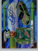 2020 Panini Prizm Patented Penmanship Blue and Carolina Blue Hyper Prizm Racing #3 Dale Earnhardt Jr Auto Autograph SER/