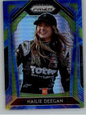2020 Panini Prizm Variations Blue and Carolina Blue Hyper Prizm Racing #56 Hailie Deegan Monster Energy