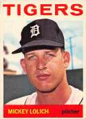 1964 Topps Baseball #128 Mickey Lolich RC Rookie Card Detroit Tigers