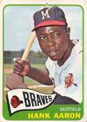 1965 Topps Baseball #170 Hank Aaron Milwaukee Braves