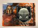 2020 Topps Star Wars The Mandalorian Season 1 Commemorative Medallion Relics The Armorer Mandalorian Helmet Medallion