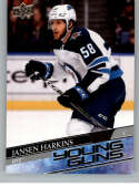 2020-21 Upper Deck Hockey #229 Jansen Harkins RC YG Winnipeg Jets Young Guns