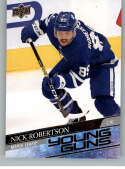 2020-21 Upper Deck Hockey #237 Nick Robertson RC YG Toronto Maple Leafs Young Guns
