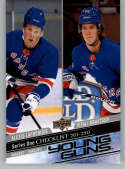 2020-21 Upper Deck Hockey #250 Alexis Lafreniere/Vitali Kravtsov RC YG New York Rangers Young Guns