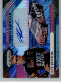 2020 Panini Prizm Patented Penmanship Blue and Carolina Blue Hyper Prizm #10 Jeff Burton Auto Autograph SER/25 Ex