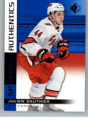 2019-20 SP Blue #138 Julien Gauthier Carolina Hurricanes