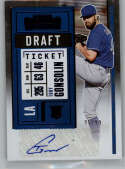 2020 Panini Contenders Rookie Draft Ticket Blue 2 Baseball #131 Tony Gonsolin RC Rookie Card Auto Autograph SER/99 Los A