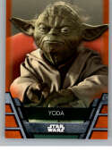 2020 Topps Star Wars Holocron Series Orange #Jedi-3 Yoda SER/99