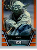 2020 Topps Star Wars Holocron Series Orange #Jedi-13 Yoda SER/99